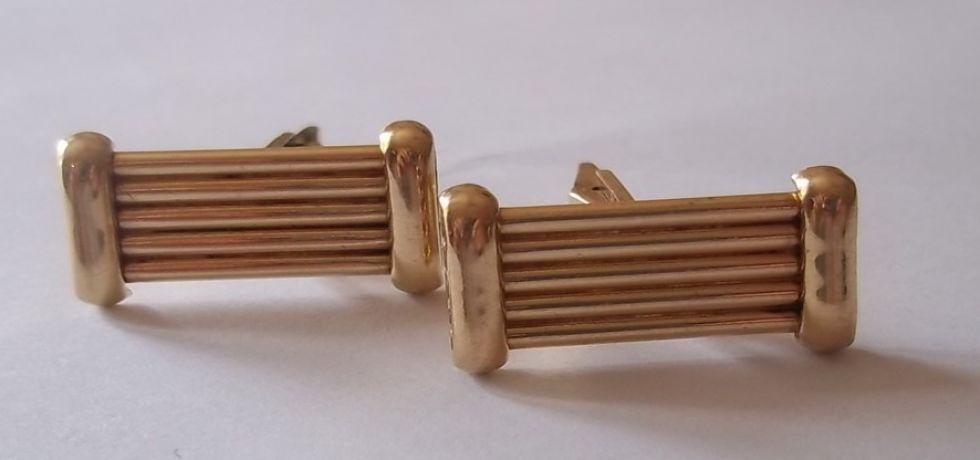14 KT Gold Bar Cufflinks