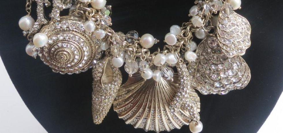 Badgley Mischka Seashell Necklace